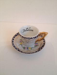 Miniature poison teacup on Etsy, $5.00