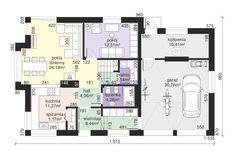 Rzut Dom przy Cyprysowej 15 K4 CE Design Case, House Plans, Floor Plans, How To Plan, Home Decor, Home Plans, Home, Mockup, House