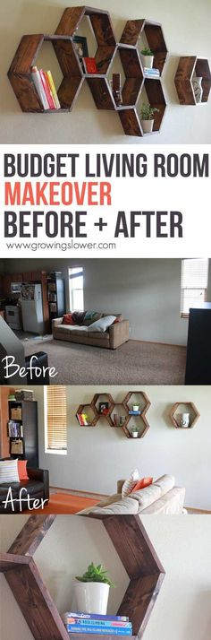 Transform your living room even on a tiny budget with these 4 simple tricks. Plus, before and after pictures to help you get inspired for your own DIY home decor. Check out this amazing $79 Budget Living Room Makeover Before and After pictures.