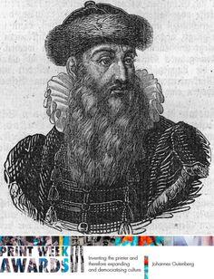 Print Week Awards F156    Johannes Gutenberg