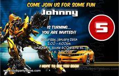 transformers bumblebee birthday invitations free custom