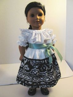Ruffled Camisa and  Print Skirt for Josefina. $20.00, via Etsy.