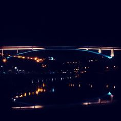 Night lights #Reflection  #bridge #porto #oporto #city #portugal #douro #river #night #lights #mood #black #sky #architecture #colors #view #instadaily #travel #time #instagood by sergio.henrique_