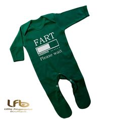 Fart loading funny saying , Irish Novelty gift , Irish colloquialism , Custom design, Personalised Green Romper suit Custom T, Custom Shirts, Custom Design, Customizable Shirts, Kids Headbands, Kids Beanies, Romper Suit, Little Girl Birthday, Baby Body