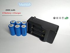 Introducing Veeki 6x 750mah 37v Cr123a 16340 Liion Rechargeable Battery Charger Perfect Power For Flashlight Photo Camera. Great product and follow us for more updates!