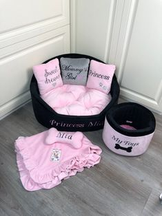 Dog Bedroom, Personalized Dog Beds, Custom Dog Beds, Puppy Room, Animal Room, Dog Rooms, Girl And Dog, Dog Accessories, Cute Baby Animals