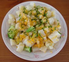 Favorite veggie meal - Saute potatoes, broccoli, cauliflower and onions and top it with cheese! YUM! #GEFreshMO