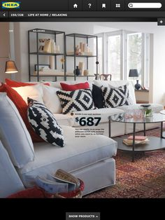 love the white couch.
