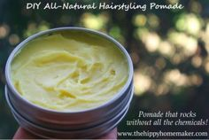 This is absolutely fabulous pomade!!  All natural, five ingredients.  Little messy to make, but well worth it.