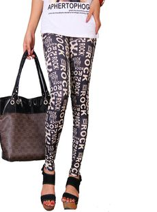2013 FASHION STYLE!Free shipping! Lady Sexy Letter Printed Leggings jeggings skinny tights LML0047     Item No.: LML0047 Description: leggings Condition: 100% Brand New Customized orders are well accepted.  Size: free size fits for regular women size S/M/L