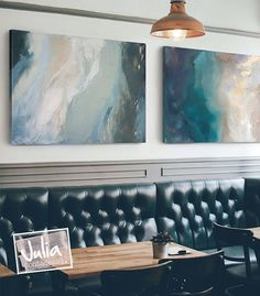 """Labradorite Dream No. 1"" and ""St. Helena"" pair nicely as horizontally hanging 48x60 canvas prints. You have all the options with our custom art. Made to just the right size and orientation needed for your space. Just hit the ""Request Further Customization"" button and the magic begins."