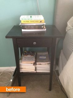 Before & After:  IKEA Hemnes Nightstand Gets an Inventive Upgrade