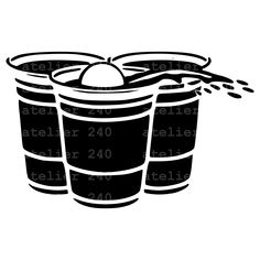 Beer Pong SVG #2 /Clipart/ Silhouette/ Cut Files/Instant Download Beer Pong, Cutting Files, Scrapbook Pages, Clip Art, Silhouette, Creative, Etsy, Silhouettes, Smash Book Pages