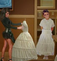 Femdom Sissy: Sissy 16 Punishment -- by Christeen Petticoated Boys, Crossdressers, Dressmaking, Feminine, Clothes For Women, Female, Dresses, Art, Fashion