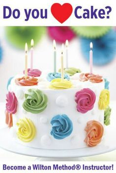 Become a Wilton Method Instructor and Teach Cake Decorating Classes in Your Area Más Creative Cake Decorating, Cake Decorating Classes, Wilton Cake Decorating, Birthday Cake Decorating, Cake Decorating Techniques, Creative Cakes, Decorating Ideas, Cake Icing, Buttercream Cake