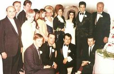 """Only photo that shows the entire wedding party at the """"Presley"""" Wedding in Las Vegas, May 1, 1967"""