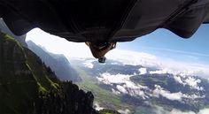 Superman flying - gopro, wingsuit, paragliding, action camera, sport camera