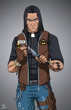 Joseph 'Deacon' Blackfire commission by phil-cho on DeviantArt Marvel Dc, Marvel Heroes, Superhero Characters, Dc Comics Characters, Arte Dc Comics, Batman Comics, Comic Character, Character Concept, Character Ideas