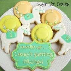 Sugar Dot Cookies: Kentucky Derby Bridal Shower Sugar Cookies with Royal Icing