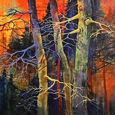 Twilight Dance - R by Carol Nelson Acrylic ~ 30 x 30