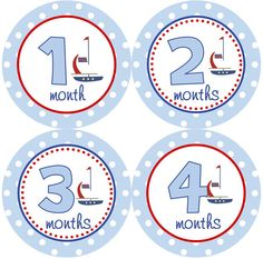 Baby Month Stickers Baby Boy Monthly Onesie Stickers Sailboat by getthepartystarted, $12.00  more baby shower gift ideas at  http://www.etsy.com/shop/getthepartystarted?section_id=6771147