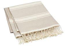 S/2 Large Stripe Fouta Towels, Beige on OneKingsLane.com