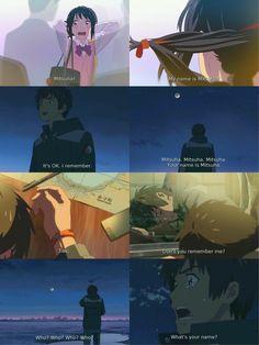 It was so sad Kimi no na wa Manga Anime, Pelo Anime, Sad Anime, Anime Love, Kimi No Na Wa Wallpaper, Your Name Anime, Tamako Love Story, Gekkan Shoujo, A Silent Voice