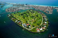 "The Most Expensive Street In America - ""Billionaire Bunker"" - Indian Creek Island Road on Indian Creek Island in Florida Indian Creek, Coral Gables, Miami Beach, South Beach, Billionaire Homes, Dubai, Mega Mansions, Florida, Birds Eye View"