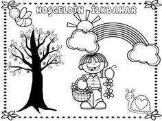 Yeni Okul Oncesi Ilkbahar Agaci Boyama En Iyi Boyama Cocuk Kitabi