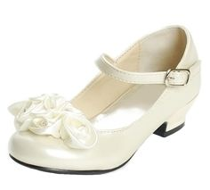Amazon.com: Mary Jane Shoes with Pretty Satin Rolled Rosettes Patent Leather: Shoes