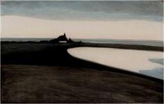Spilliaert - Le casino d'Ostende (1908) Crayons de couleur, encre de Chine, lavis et poudre argentée sur papier (50 x 32)