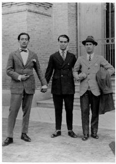 Salvador Dalí, Federico García Lorca i Pepín Bello al Museu de Ciències Naturals de Madrid, 1925