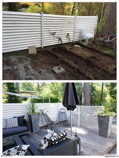 Piha-alueet ennen ja jälkeen - Sisustuskuvia jäseneltä Karkki - StyleRoom Backyard, Patio, Outdoor Decor, Dreams, Home Decor, Decoration Home, Terrace, Room Decor, Porch