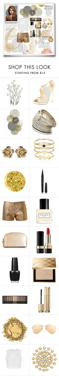 """""""Golden"""" by madhu-147 ❤ liked on Polyvore featuring Universal Lighting and Decor, Jimmy Choo, Miss Selfridge, Amrita Singh, Accessorize, Anna Sui, Marc Jacobs, Lanvin, MICHAEL Michael Kors and Dolce&Gabbana"""
