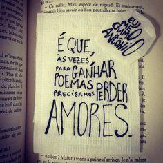 Eu amo os poemas do Eu me Chamo Antonio