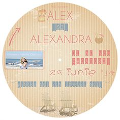 Invitatie nunta la mare - Wedding invitation Theme Seaside (front) Circular, rotative