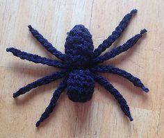Spider - free crochet pattern by Lori-Anne Ketola.