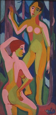 Ernst Ludwig Kirchner, Zwei Akte im Wald II (Two Nudes in the Forest), 1926 | Flickr - Photo Sharing!