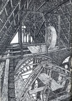 """Gothic Cathedral wood centering, from """"Cathedral"""", by David Macaulay."""