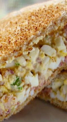 Ham and Egg Salad Sandwich