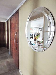 Espelho Redondo Duplo Bisotê