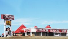 The Cherokee Trading Post in Clinton has been a stop for travelers along #Route66 in Clinton since 1967. Stop in for your piece of #Oklahoma to take with you.