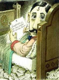 Marcel Proust by Tullio Pericoli ~Via Uwe Schlemmermeyer Marcel Proust, Caricatures, Keep Calm, Gottfried Helnwein, Chess Books, Jasper Johns, Writers And Poets, Italian Painters, Book Writer