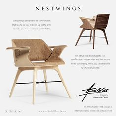 NESTWINGS Chair by AROUNDtheTREE ...#aroundthetreedesign #iconicdesign #timelessdesign #interiordesign #luxuryfurniture #alexandrecaldas #interiors