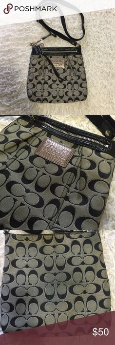 Coach Poppy crossbody Coach Poppy crossbody. Great condition. Back side has slight discoloration from rubbing on my jeans but is not very noticeable. Comes from smoke free, pet friendly home. Coach Bags Crossbody Bags
