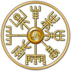 Norse Vegvisir Viking Compass - White