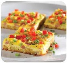 Pampered Chef...Ham & Cheese Brunch Squares (I use sausage instead of ham) DELISH!!!!!