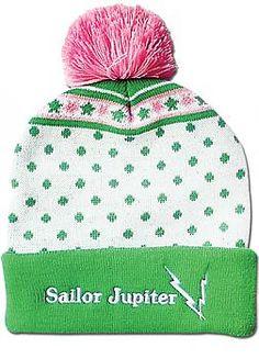 70ada0b76b7 Sailor Moon Beanie - Sailor Jupiter Pom