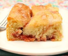 Glazed Cherry Yeast Coffee Cake is made with yeast. It's an easy yeast cake recipe that yields a tender light glazed cherry coffee cake you'll love! Brunch Recipes, Breakfast Recipes, Dessert Recipes, Desserts, Breakfast Dishes, Dessert Ideas, Yummy Recipes, Cake Recipes, Bakken