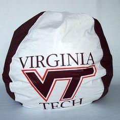 Bean Bag Chair NCAA Team Virginia Tech